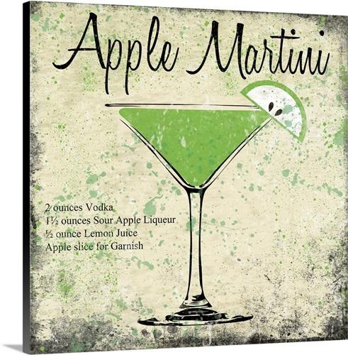 Apple Martini Wall Art, Canvas Prints, Framed Prints, Wall Peels ...