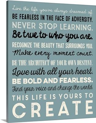 Be Fearless, Aqua and Black