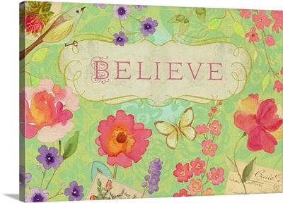 Believe unframed