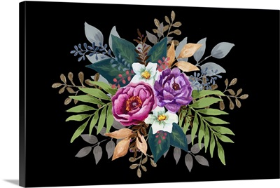 Black Ground Floral