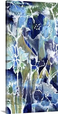 Blue Flowers Tall III