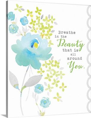 Breathe in the Beauty blue