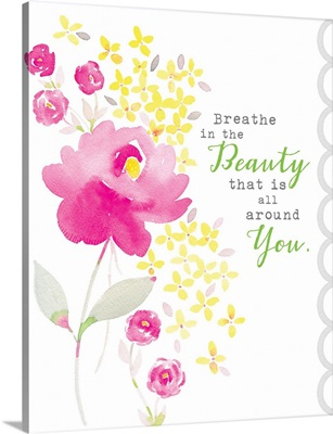 Breathe in the Beauty pink