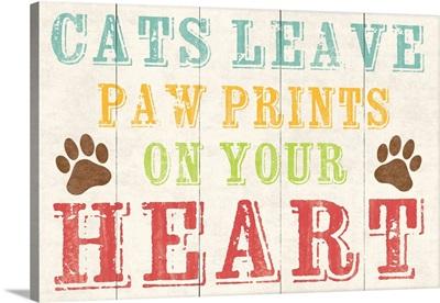 Cat Paw Prints blue