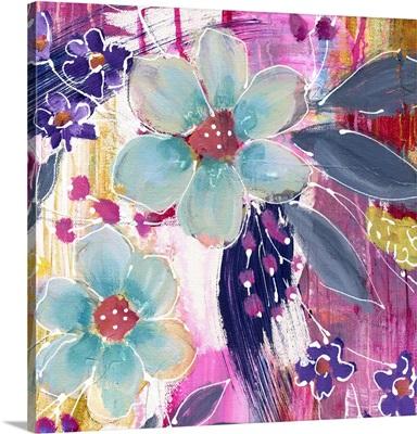 Cheerful Blue Flowers II