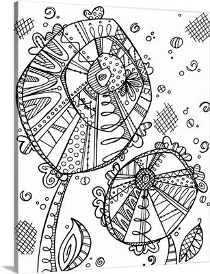 Color Me - Circle Flowers