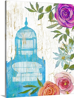 Colorful Garden Blue Cage