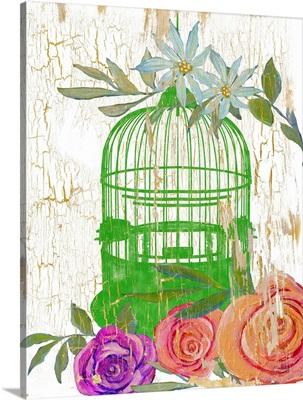 Colorful Garden Green Cage