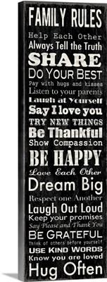 Family Rules Narrow Black