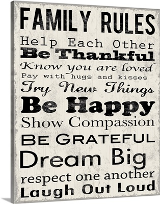 Family Rules Thankful