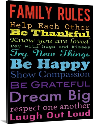 Family Rules Thankful Color