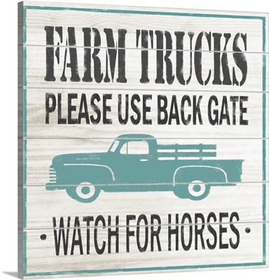 Farm Trucks Sign