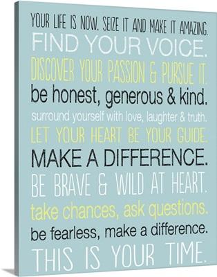 Find Your Voice, aqua