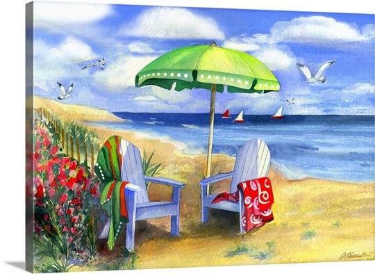 Green Umbrella Wall Art, Canvas Prints, Framed Prints, Wall Peels ...