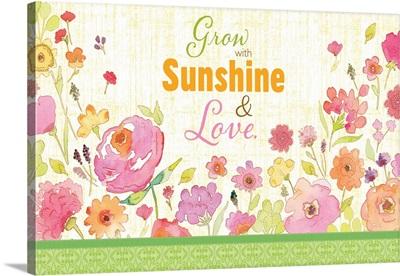 Grow with Sunshine white horiz