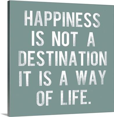 Happiness is Not a Destination, aqua