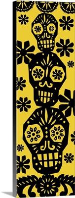 Happy Skulls papel picado 4