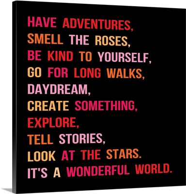 Have Adventures, pink and red