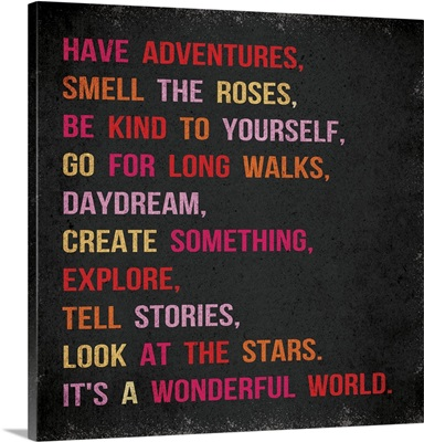 Have Adventures pink red distressed