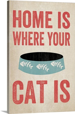 Home Is Where Your Cat Is blue