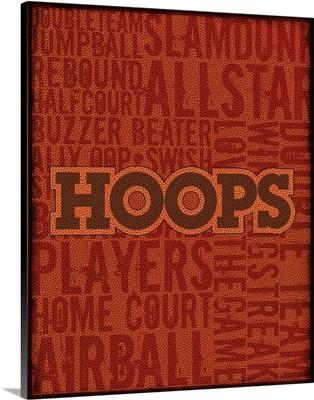 Hoops Typography Art