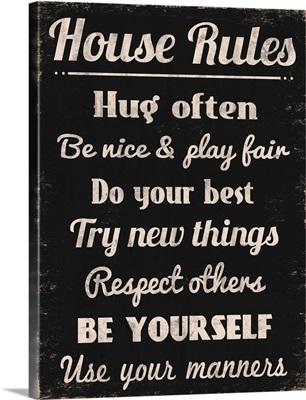 House Rules Hug Often