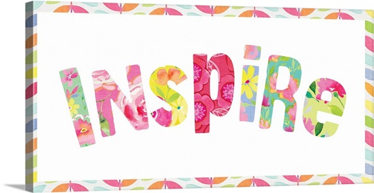 Inspire letters Wall Art, Canvas Prints, Framed Prints, Wall Peels ...