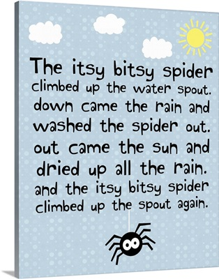 Itsy Bitsy Spider, blue square