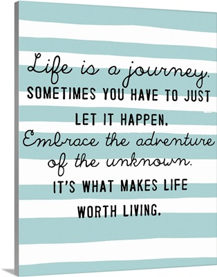 Journey, Aqua Stripes
