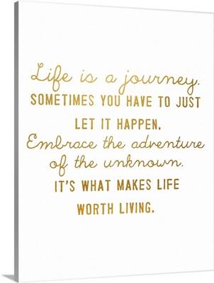 Journey, Gold on White