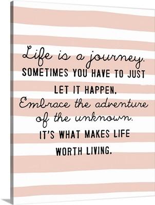 Journey, Peach Stripes