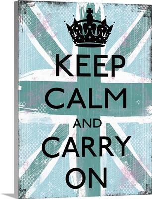 Keep Calm aqua and light blue