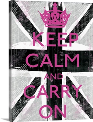 Keep Calm black pink