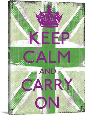 Keep Calm green and purple