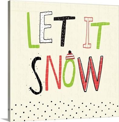 Let it Snow letters