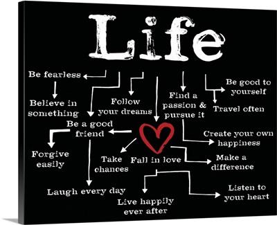 Life Chart black