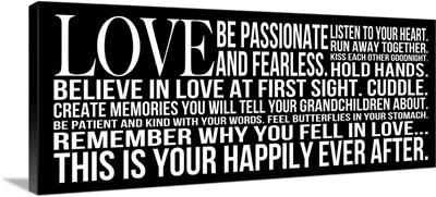 Love Be Passionate, black