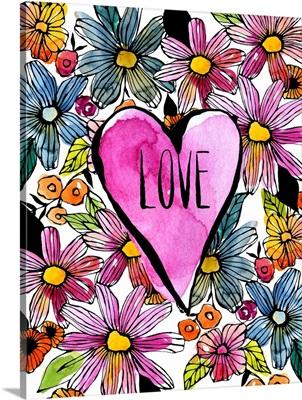Love Heart White