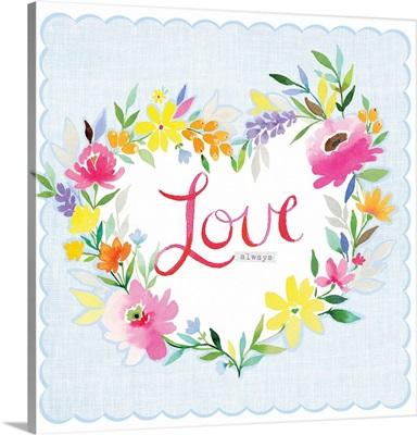 Love heart wreath