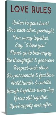 Love Rules, Aqua and White