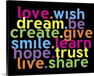 Love wish, color