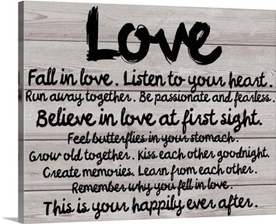 Love, Wood Grain