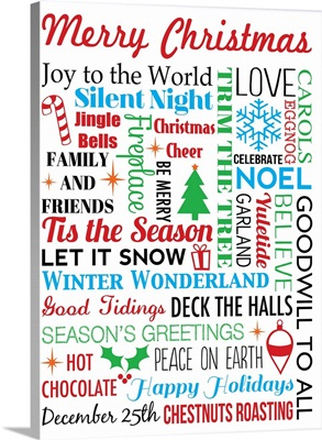 Merry Christmas, white