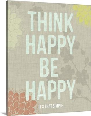 Think Happy Be Happy, grey