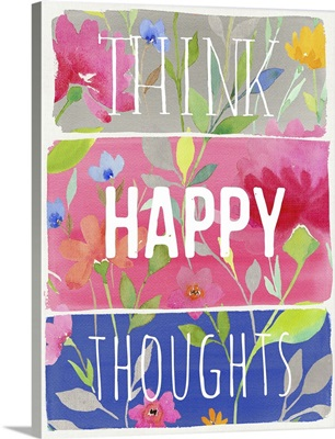 Think Happy Thoughts planks