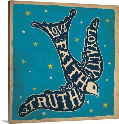 Truth Faith Loyalty Blue