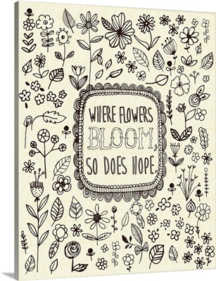 Where Flowers Bloom coloring