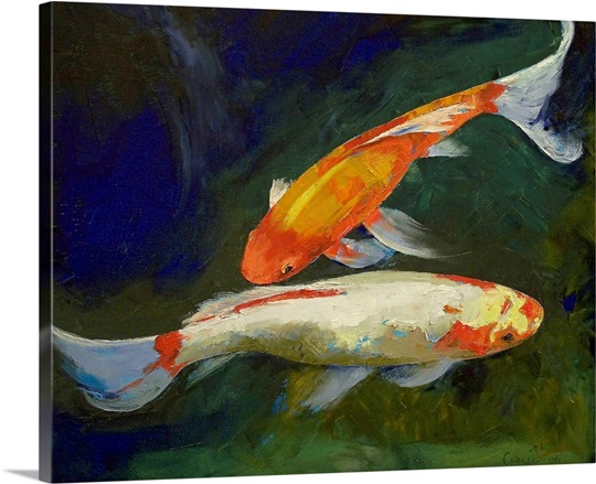 Feng Shui Wall Art feng shui koi fish wall art, canvas prints, framed prints, wall