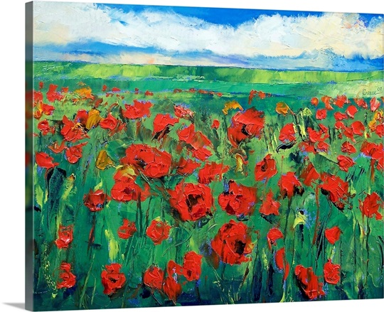 Field of Red Poppies Wall Art, Canvas Prints, Framed Prints, Wall ...