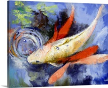 Koi and Water Ripples